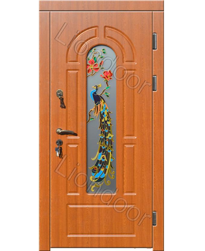 купить железную дверь с витражом