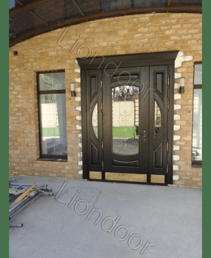 металлические двери установка