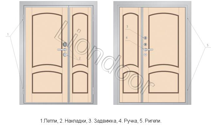 установка металлических дверей двухстворчатых