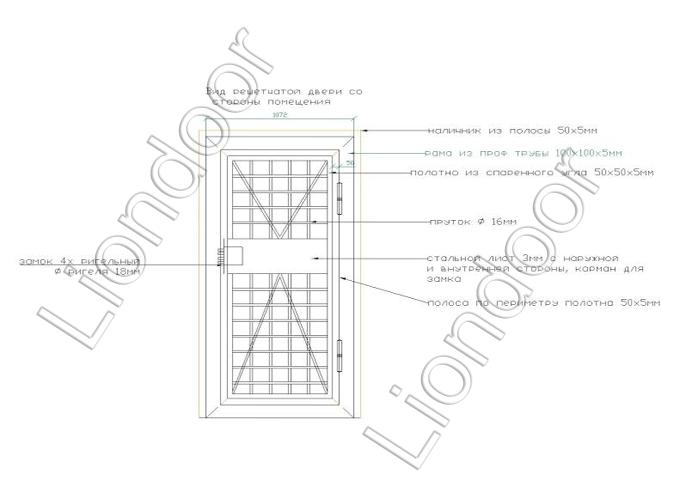 металлические входные решетчатые двери
