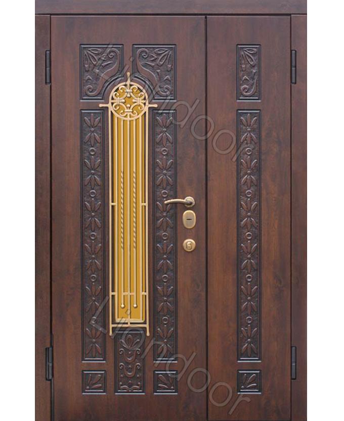 металические двери входные 1200 2200 со стеклом