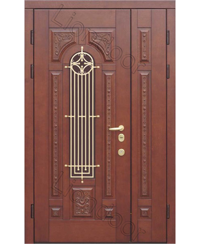 двери металлические полуторные для