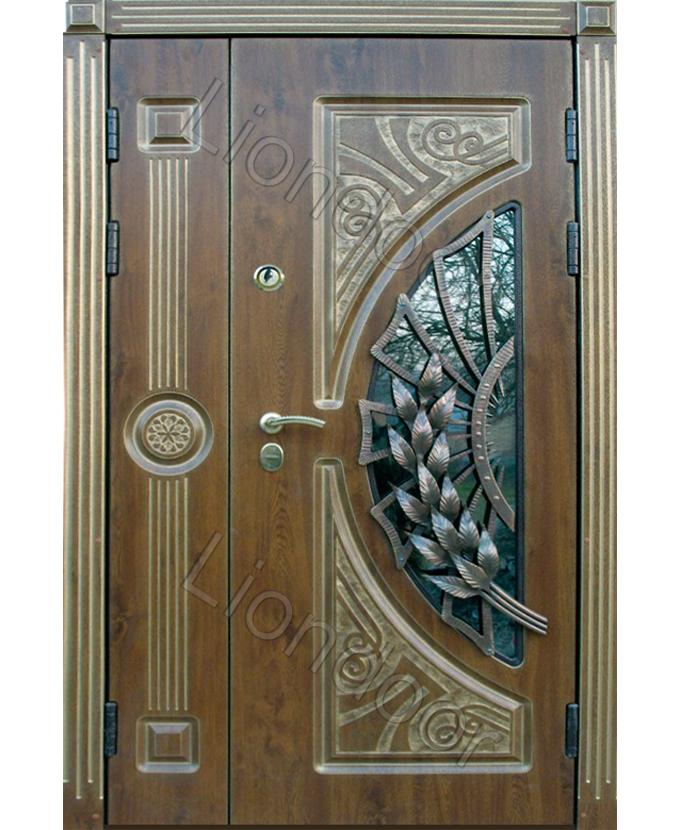 входные железные двери со створкой